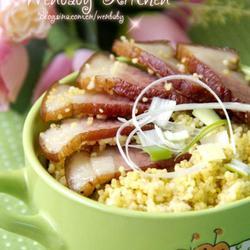 腊肉焖小米的做法[图]