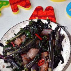 腊肉红菜苔的做法[图]