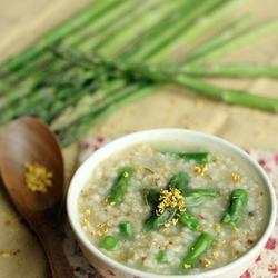 桂花芦笋糙米粥的做法[图]