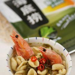 北极甜虾酸菜杂粮猫耳面的做法[图]