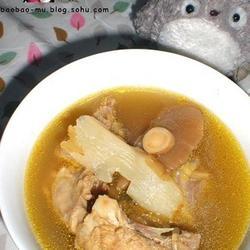 黄芪天麻干蘑鸡架汤的做法[图]