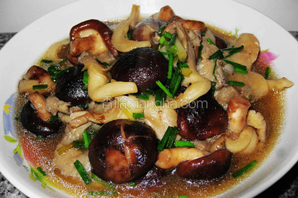 蚝油烩双菇