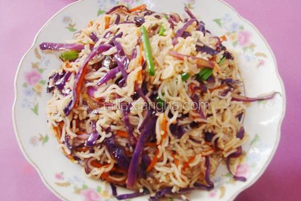 紫甘蓝斋炒米