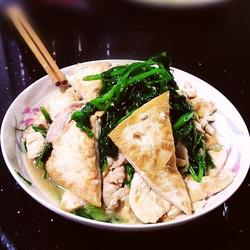 豌豆苗烩豆腐的做法[图]