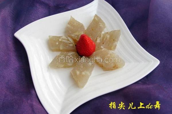桂花马蹄糕