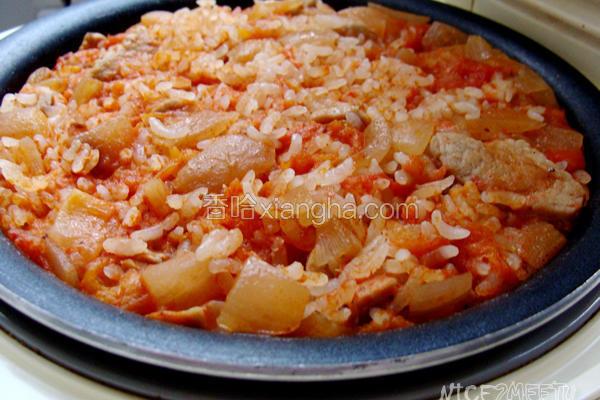 番茄里脊肉焖饭