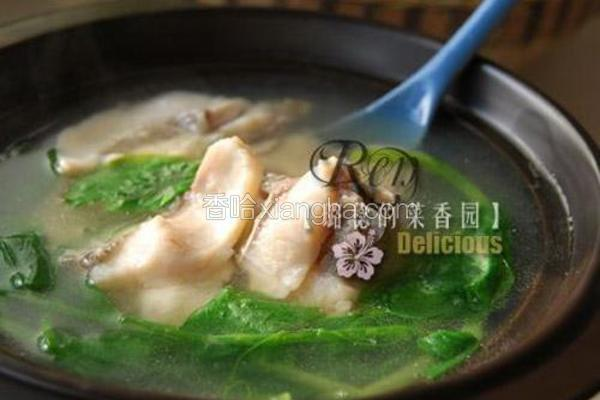 花鲢鱼片豌豆尖汤
