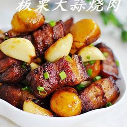 板栗大蒜烧肉的做法[图]