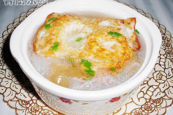 荷包蛋粉丝汤