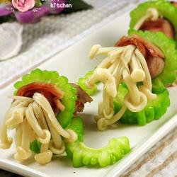 苦瓜培根金针菇卷的做法[图]