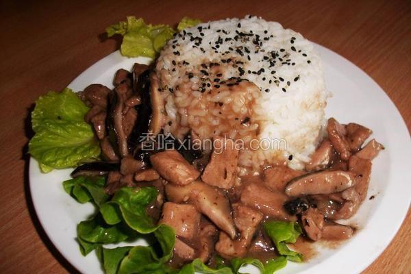 照烧香菇肉饭