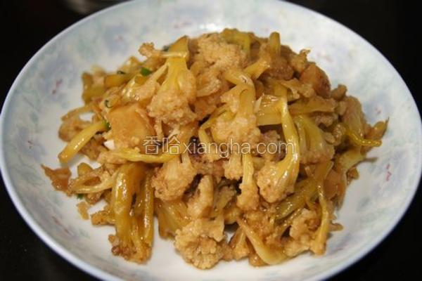 小炒腌花菜