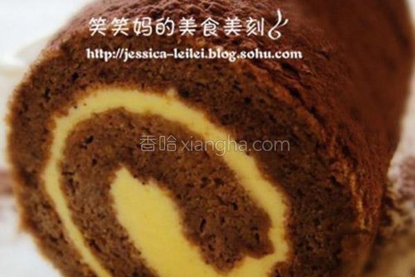 巧克力蛋糕卷的做法