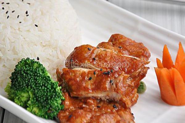 香辣鸡肉饭