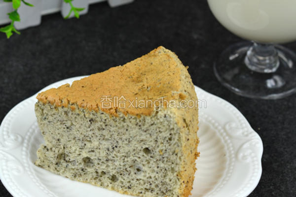 黑芝麻戚风蛋糕