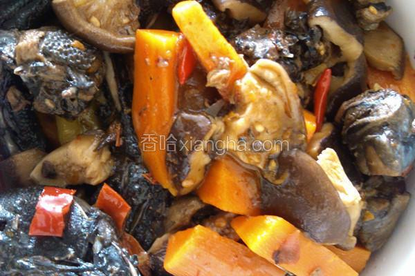 香菇胡萝卜烧乌鸡