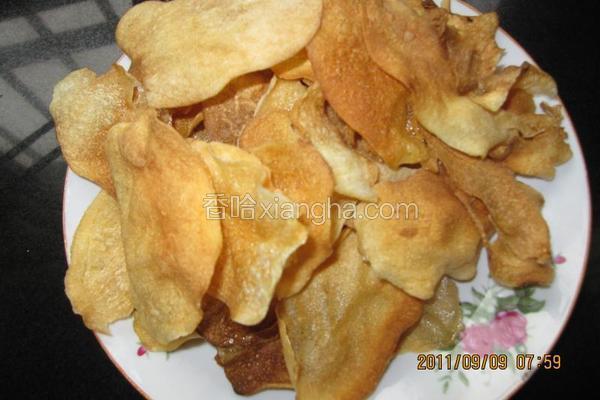 自制健康薯片