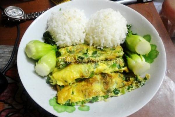 韭菜煎蛋饭