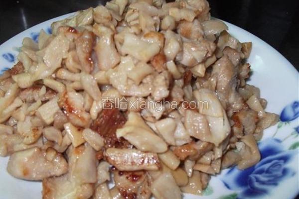 萝卜干炒肉粒