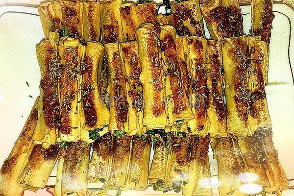香菜干豆腐卷
