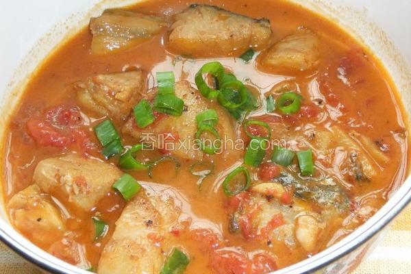 西红柿炖鲅鱼