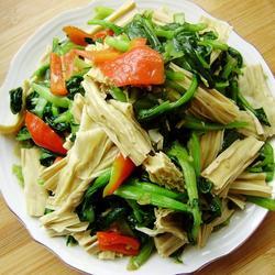 腐竹燒油菜的做法[圖]