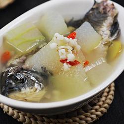 冬瓜薏仁鯽魚湯的做法[圖]