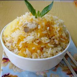 南瓜干贝鸡丝饭的做法[图]
