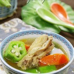 秋葵鸡汤的做法[图]