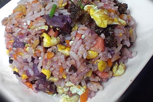 蛋炒紫薯饭
