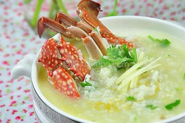 海鲜螃蟹粥