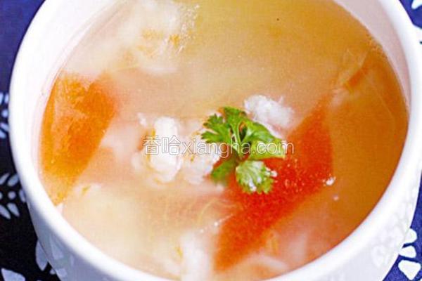 虾球西瓜汤