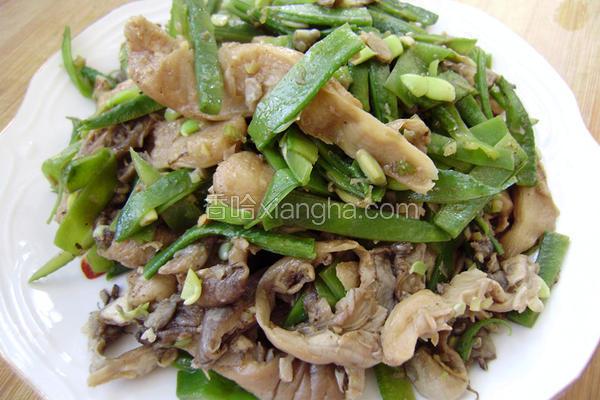 扁豆炒鲜蘑