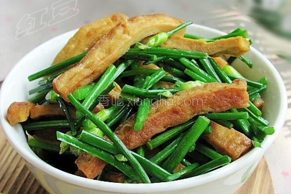 韭菜苔炒豆腐