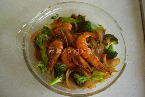 洋葱西兰花炒大虾