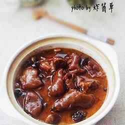 香菇黄豆猪蹄煲的做法[图]