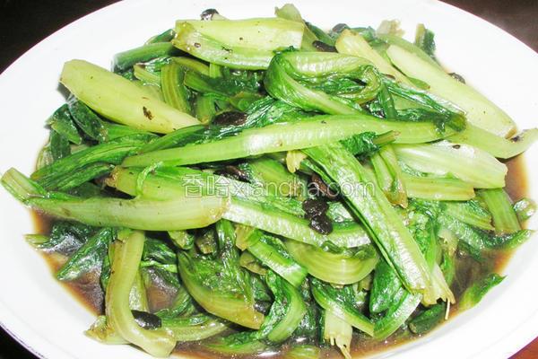 豆豉油麦菜