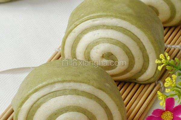 绿茶双色馒头卷