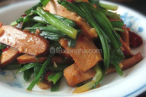 韭菜炒酱干