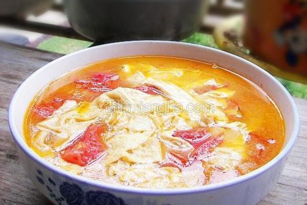 番茄豆皮汤