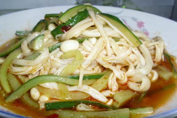青瓜拌金针菇
