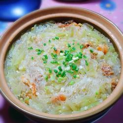 节瓜虾米粉丝煲的做法[图]