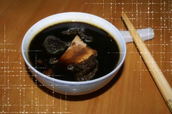 生熟地扇骨汤