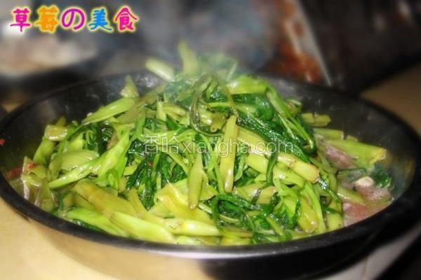 腐乳炒通心菜