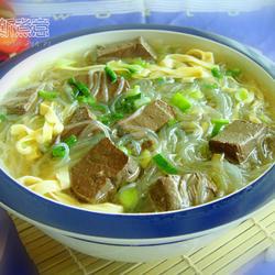 羊血粉丝豆皮汤的做法[图]
