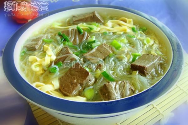 羊血粉丝豆皮汤