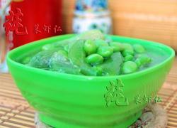丝瓜炒毛豆籽