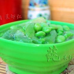 丝瓜炒毛豆籽的做法[图]