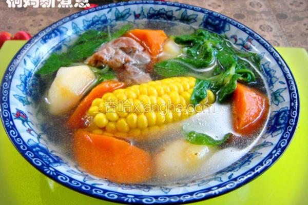 鲜蔬猪骨汤