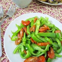 菜椒炒虾米的做法[图]